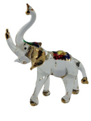TINY CRYSTAL ELEPHANT HAND BLOWN CLEAR GLASS ART FIGURINE ANIMALS COLLECTION GLASS BLOWN