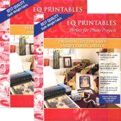 Bundle of 2 Packages ~ EQ Printables Premium Cotton Lawn (6 Sheets/package) For Photo Quilting