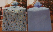 Giant Gift Wrap Bags Winter Designs Snowflakes/snowman Set of 2 Bags