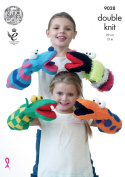 King Cole Pricewise DK Knitting Pattern for Double Knit Quirky Hand Puppets Kids