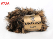 1x50g50ml Koala Faux Fur Bulky Yarn By Lanas Stop #736