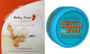 Baby Foot Deep Exfoliation Feet Peel & O'Keeffe's Healthy Feet Cream 80ml Jar, Value Pack...