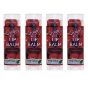 Rain Forest Natural Luxury Lip Balm, Cherry Berry, 4 Count