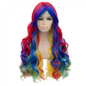 Toptheway Modern Hair Long Loose Wavy Heat Resistent Synthetic Hair Costume Party Wig