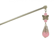 2 Pcs Chinese Traditional Metal Tassels Hair Pins Stick Women's Hair Accessory T446