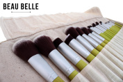 Beau Belle Makeup Brushes - 23 Natural Makeup Brush Set - Bamboo Makeup Brushes - Natural Makeup Brushes - Professional Makeup Brushes - Make Up Brushes - Make Up Brush Set