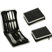 FakeFace Professional High Quality Stainless Steel Nail Care Clipper Cutter Cuticle Personal Manicure & Pedicure Set, Travel & Grooming Kit Tools with Free Delicate Leather Case Gift