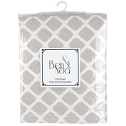 Ben & Noah Fitted Flannel Crib Sheet- Grey Lattice