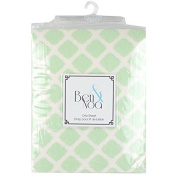 Ben & Noah Fitted Flannel Crib Sheet- Green Lattice