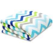 Little Starter Toddler Blanket, Blue Chevron, Super Soft and Lightweight, Machine Washable