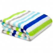 Little Starter Toddler Blanket, Blue Stripe, Super Soft and Lightweight, Machine Washable