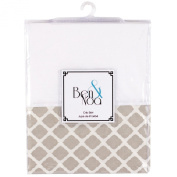 Ben & Noa Crib Skirt Percale, Linen Lattice