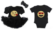 G & G - Cute Emoji Valentine's Matching Baby Boy Girl Twins Siblings Outfits