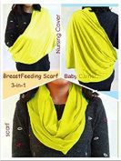 BayB Brand 3-in-1 Nursing Cover Up, Baby Sling & Scarf - Yellow