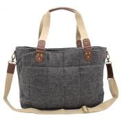 ULike Women's Baby Nappy Nappy Tote Bag Grey