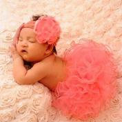 Aaronam Newborn Baby Girls Tutu Clothes Skirt, Pink