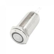 Green LED Angel Eye SPST Self-Locking Metal Push Button Switch 12mm