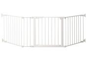 Kidco Auto Close ConfigureGate, White 210cm x 80cm , Basic Gate + 23cm Extension - G3000