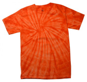 Orange Tie Dye Toddler Tee 2T, 3T, 4T, Pre-Shrunk Cotton, Short Sleeve