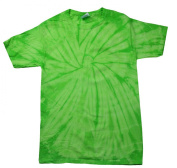 Green Lime Tie Dye Toddler Tee 2T, 3T, 4T 100% Pre-Shrunk Cotton Short Sleeve