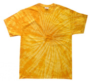 Yellow Gold Tie Dye Toddler Tee 2T, 3T, 4T, Pre-Shrunk Cotton, Short Sleeve