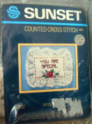 """Sunset """"You Are Special"""" Counted Cross Stitch Mini Memento Kit 983"""
