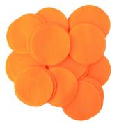 50 pc Orange 7.6cm Felt Circles