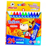 HORSE 24 colours CRAYON SIZE REGULAR