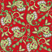 PATTERNED Christmas #34 Paisley Craft Cutter Vinyl Red Outdoor Vinyl 30cm x 30cm 4 PIECES
