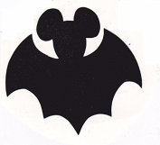 Vinyl Disney Mickey Mouse Halloween Bat Die Cut Stickers - 4pc