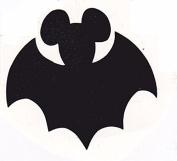 Vinyl Disney Mickey Mouse Halloween Bat Die Cut Stickers - 4pc