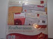 Xl Fun Scrapbook Kit Specialty and Glitter Designer Papers Included 12x12 Krafternoon