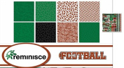 Reminisce - Football Scrapbook Papers & Stickers Set