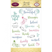 Justrite Papercraft Clear Stamps 10cm x 15cm -Remember You Are