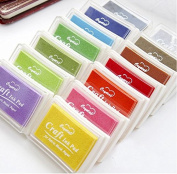 YEHAM® 15 Hues Retro Pigment Craft Ink Pads for Febric Wood Paper