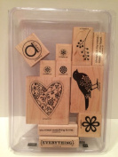 Stampin Up Wood stamps Alwyas Set of 11 stamps