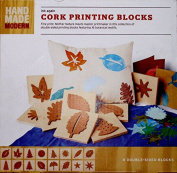 Botanical Motif Cork Printing Blocks
