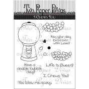 Two Paper Divas Clear Stamps 18cm x 11cm -I Chews You