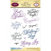 JustRite Papercraft Stamps - Grand Wedding Wishes stamps