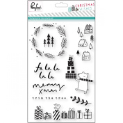 Pinkfresh Studio Christmas Wishes Clear Stamps 10cm x 15cm