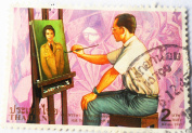 Stamp Image and Identity of Reign 9 in 1997, Stamps Were Used. (For Those Who Like to Collect Stamps).