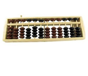 27cm x 8.3cm x 1.9cm 12 Rods Wooden Wood Abacus , Traditional Japanese Soroban