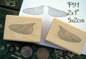 P91 Fairy Wings rubber stamp
