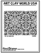 Flexistamps Texture Sheets Flourish Positive Design - 1 Pc.