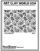 Flexistamps Texture Sheets Paisley Positive Design - 1 Pc.