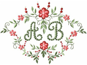 ABC Machine Embroidery Designs Set - Heirloom Monogram Embroidery Designs 27 Designs (Capital letters in heirloom stitching & blank monogram background) 5x7 Hoop - CD