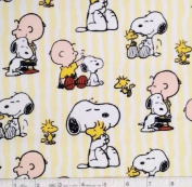 "1/2 Yard - Peanuts ""SNOOPY STRIPE"" Cotton Fabric - Officially Licenced (Great for Quilting, Sewing, Craft Projects, Throw Pillows & More) 1/2 Yard x 110cm"