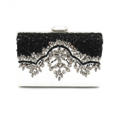 Kingluck Women Pu Baguette beading Shoulder Bag / Clutch / Evening Bag / Coin Purse / Mobile Phone Bag