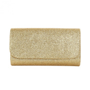 Premium Small Metallic Glitter Flap Clutch Evening Bag Handbag - Diff Colours