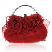 Alizeebridal Women's Flower Clutch Mini Organza Evening Bag